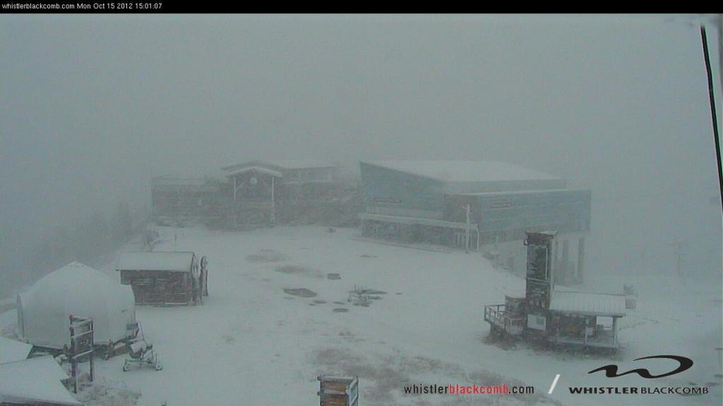 Snowing at the top of Whistler right now!