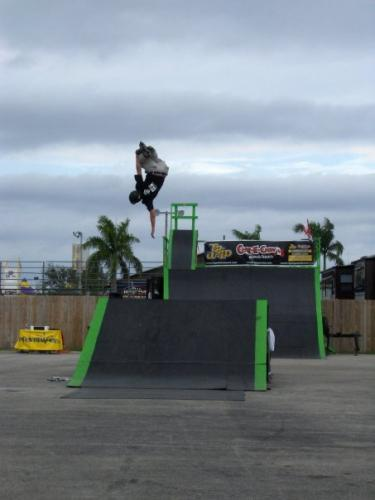Backflip Mute Grab at West Palm Beach Fair