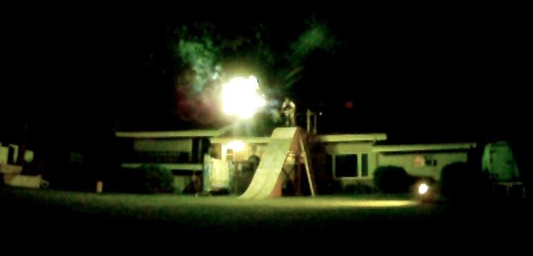 Night BMX Fireworks Lake Jump