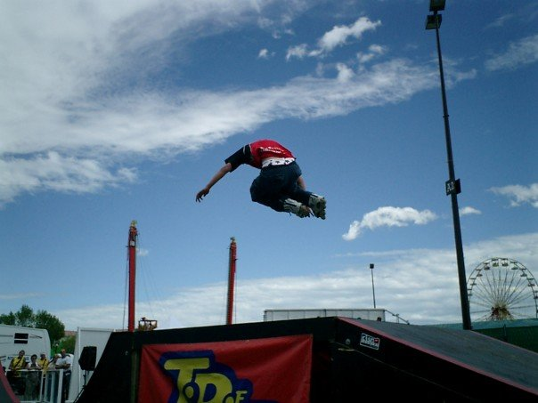 Fakie Zero Spin Mute Grab at Edmonton KDays