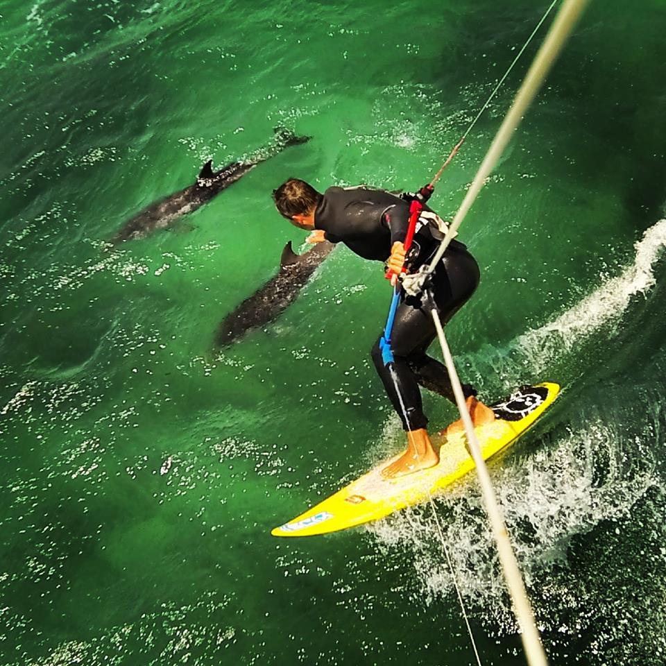 Epic kitesurfing moment