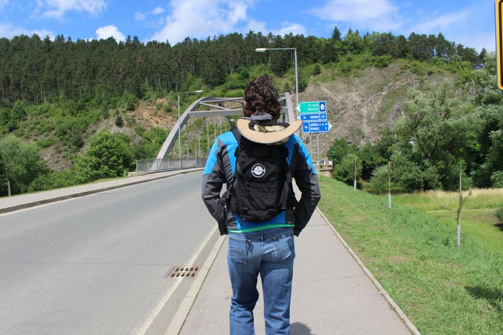 Road to Karlstejn Castle