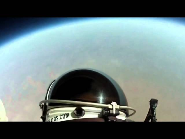 Red Bull Stratos Headcam Footage