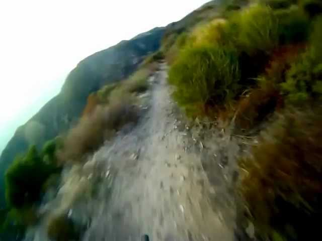 Riding on the edge - Angeles National Forest