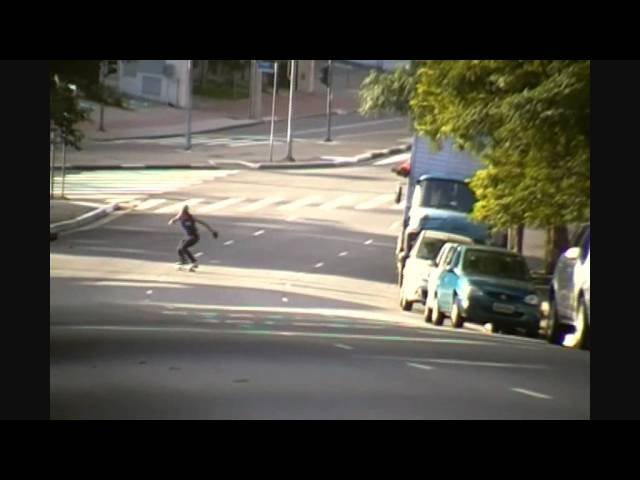 Carlos Piu CRAZYSH*T Downhill Slide skateboarding