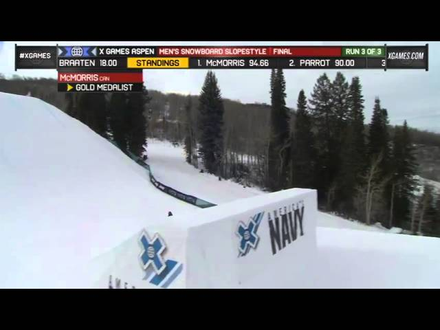 Mark McMorris Victory Lap at X Games 2013
