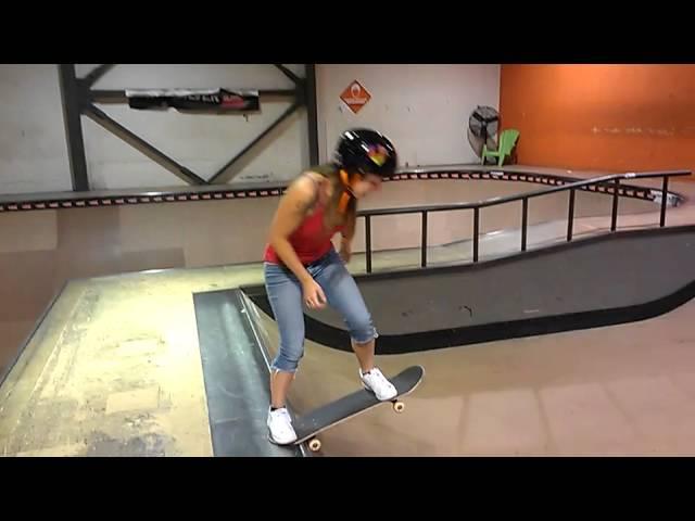 my girlfriend just started skateboarding