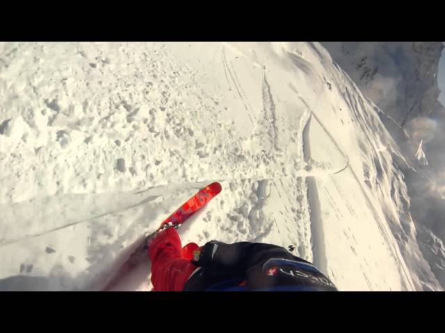 Skier Backflips In Front Of Avalanche