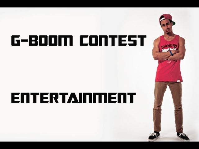 G-BOOM CONTEST FOR ENTERTAINMENT