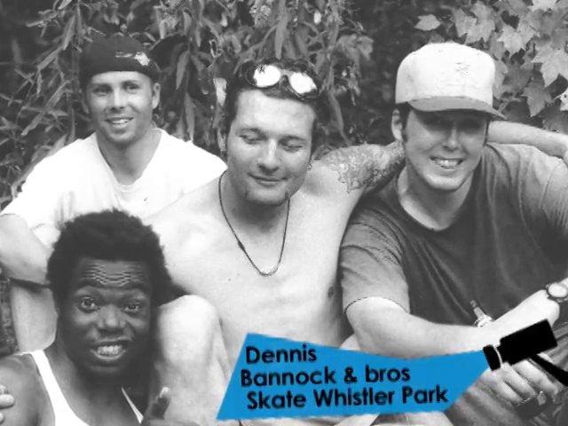 Dennis Bannock & bros skate Whistler Park