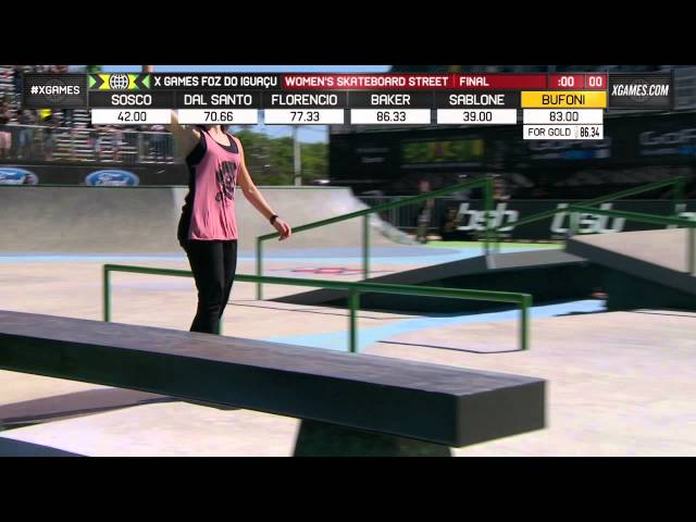 Leticia Bufoni Wins X Games Women's Street