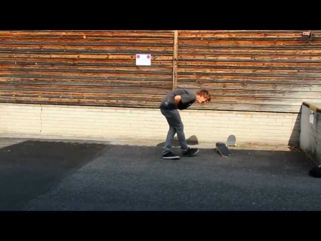 Skater Breaks Board with his BALLS!!!