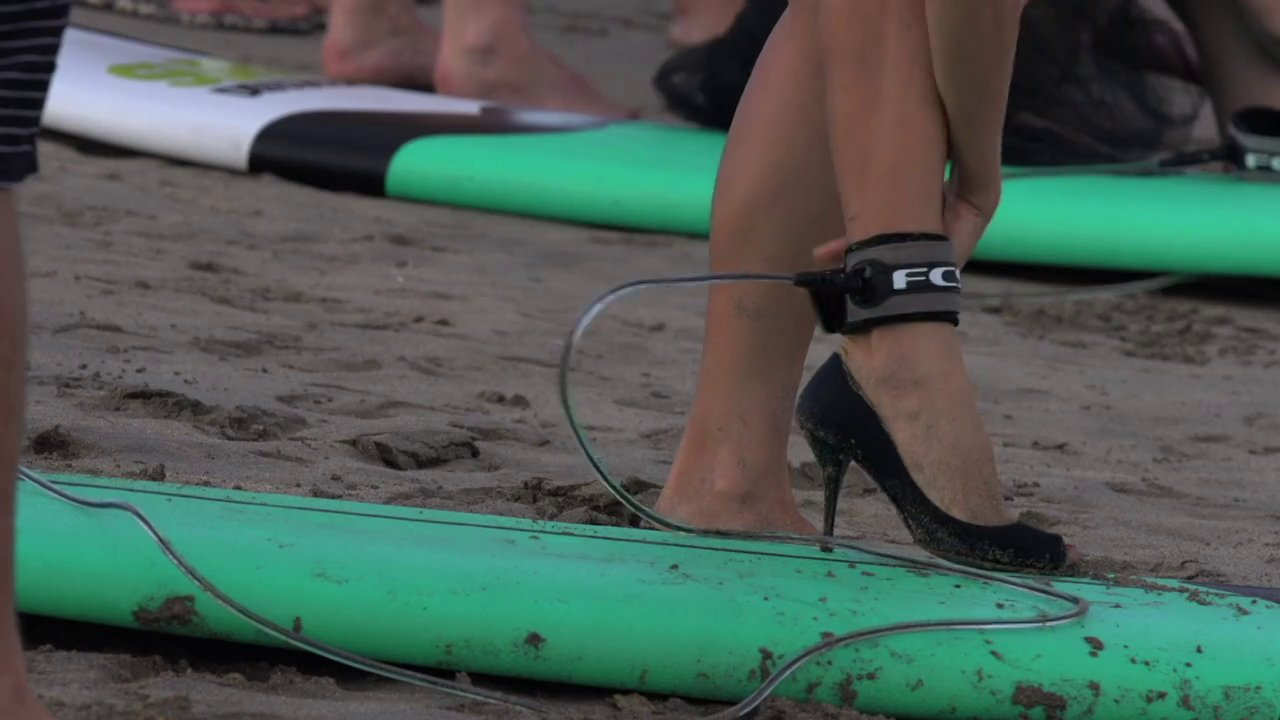 Surf Competition in High Heels!