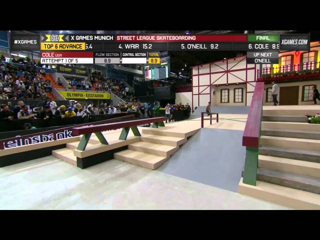 Chris Cole Winning Run at Street League Munich