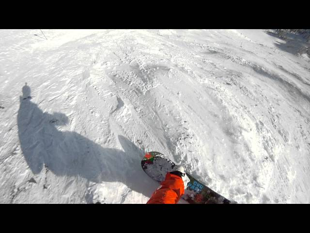 Snowboarder Falls Down Entire Mountain