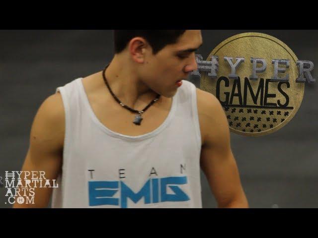 Martial Arts Athletes Kick Challenges & Trick Batt