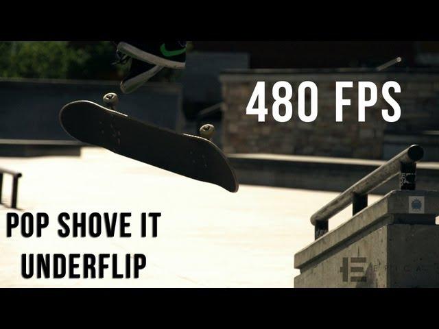 Pop Shove It Underflip (480fps)