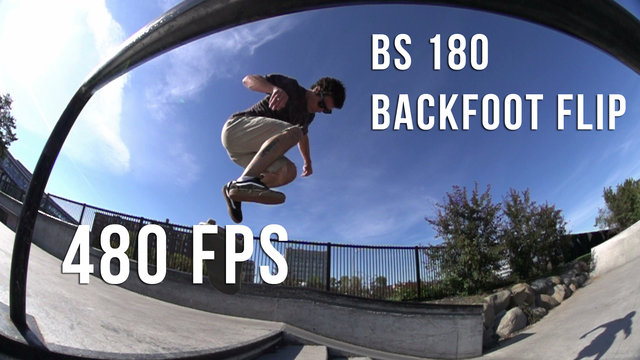 Slow Motion - BS180 Late Backfoot Flip (480 FPS)