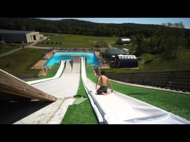 Slip N Slide Ski Jump!