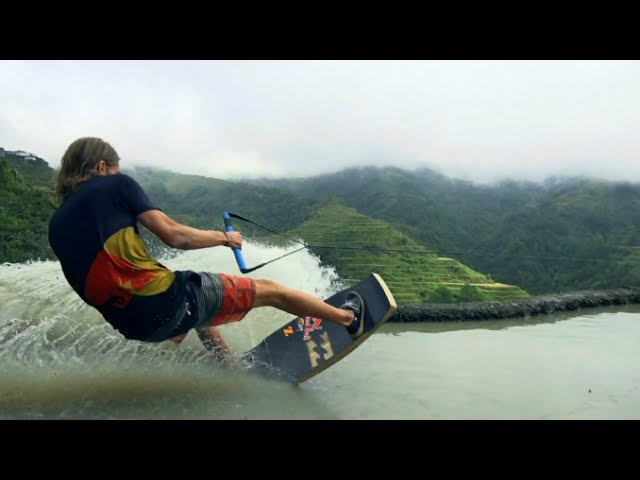 Wakeskating the Rice Terraces in the Philippines