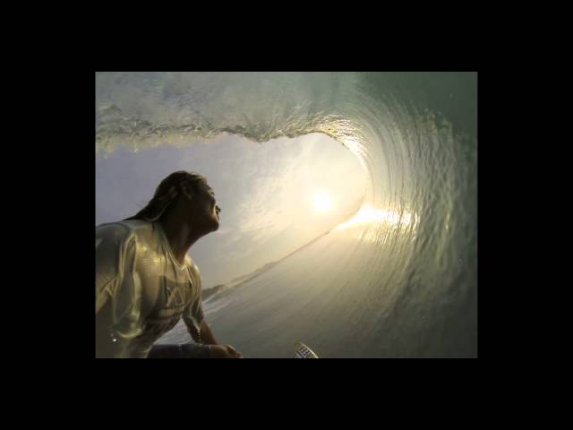 Mikala Jones surfing perfect barrels on a GO-PRO