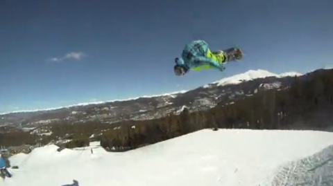 Eric Willett takes a run at Breckenridge