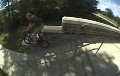 14 Stairs on a bike