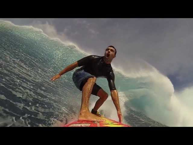 Surfing Jaws POV with the Xensr Team