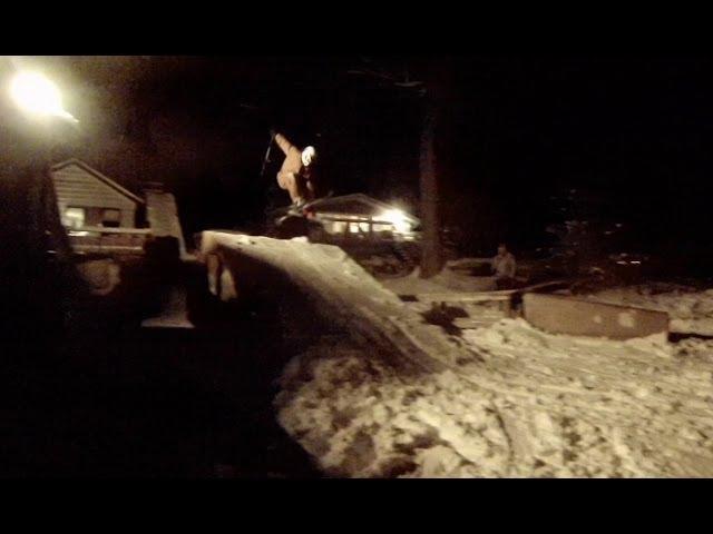 Some More Backyard Skiing, Setup almost Complete