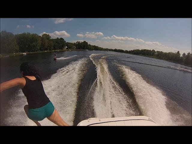 Spinny on a Wakeboard/Highspeed Boat Jump