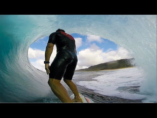 Anthony Walsh Incredible Pipeline Barrel POV