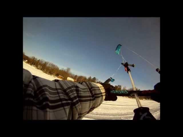 Kite Skiing in Constance Bay