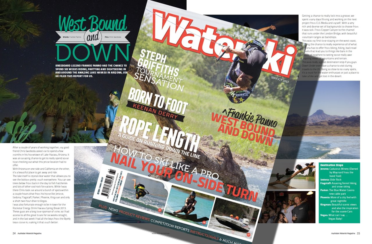 Cover shoot video for Aussie Waterski Mag