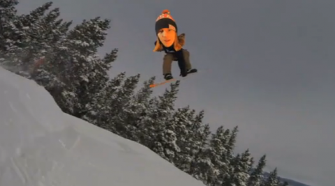 Big Head Snowboarding!
