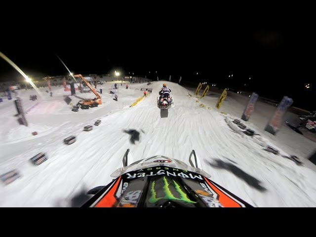 Snocross POV from the 2014 Amsoil Championship