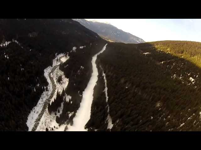 Illegal Basejump from Peak 2 Peak in Whistler