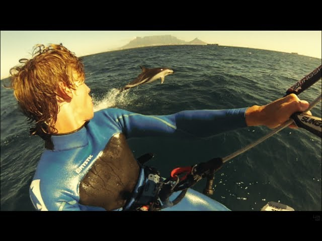 Kitesurfing with Dolphins in Cape Town