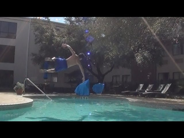 Sideflip over a pool!