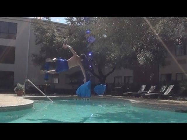 Sideflip over a pool!