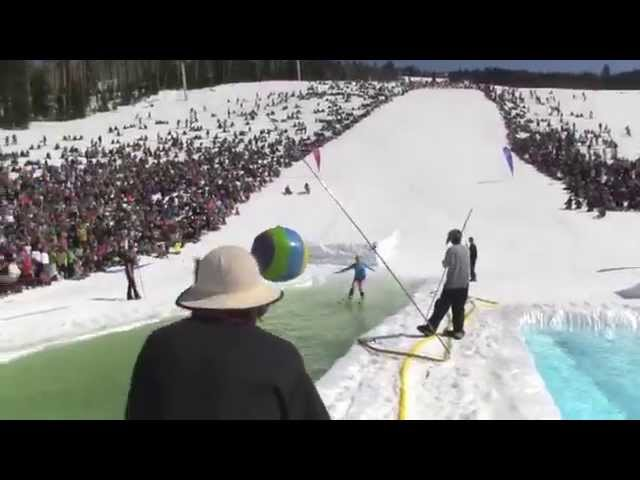 Greatest Pond Skim Competition Ever?