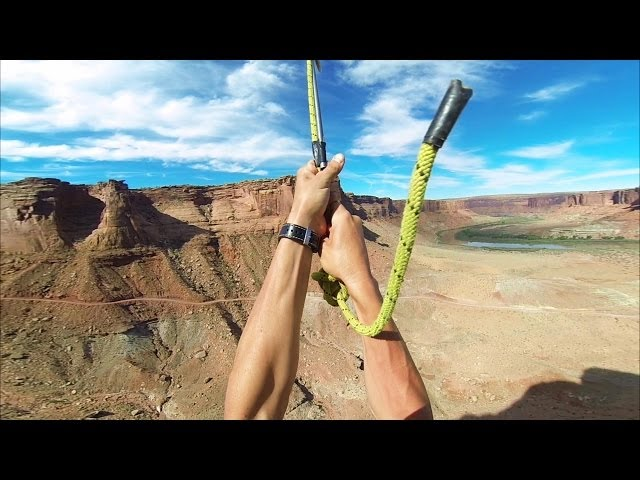 Huge Zipline Backflip in the Desert