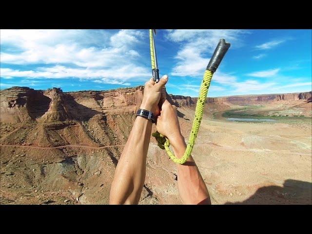 Huge Zipline Backflip in the Desert