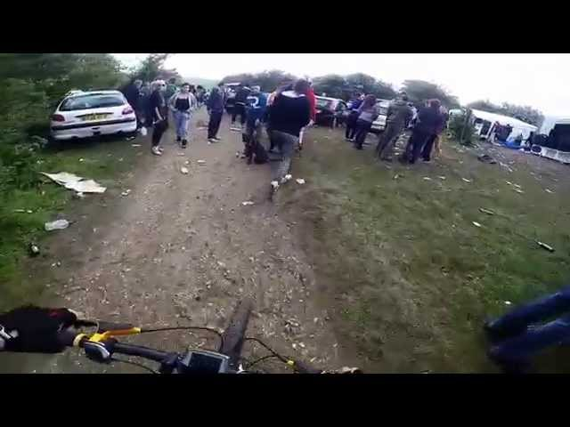 Mountain Bikers Randomly Find Huge Party