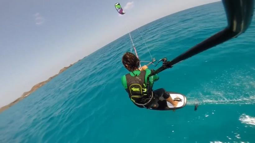 Kite Foilboarding at Flag Beach