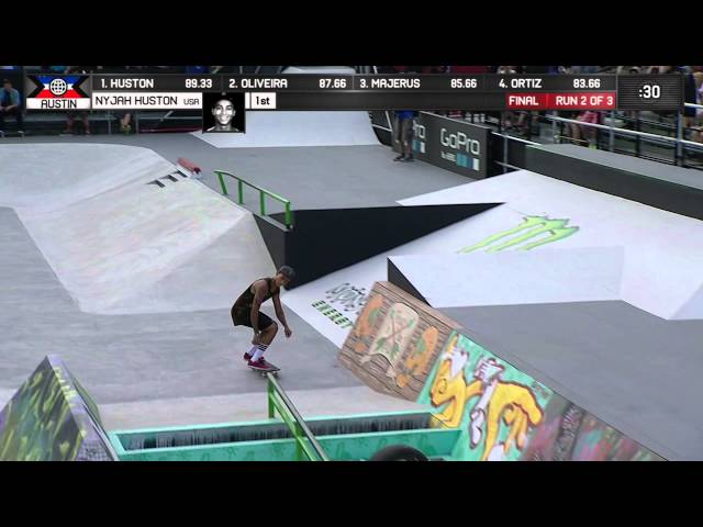 Nyjah Skateboard Street Gold X Games Austin