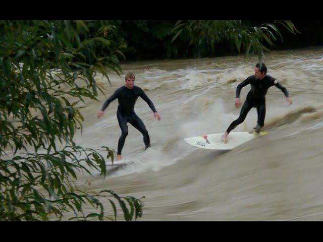 Flooding River Surf in Switzerland