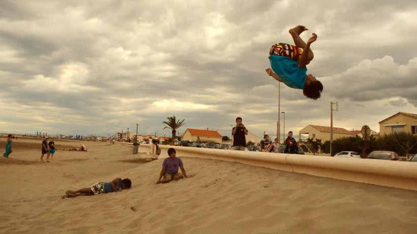 Beach Freerunning