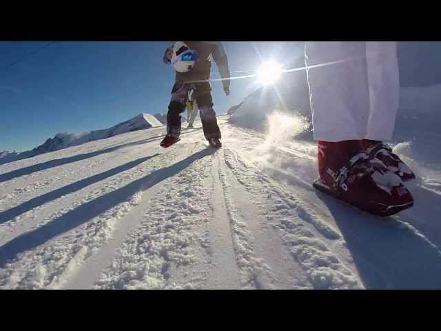 Inline skating on snow - GoPro SloMo