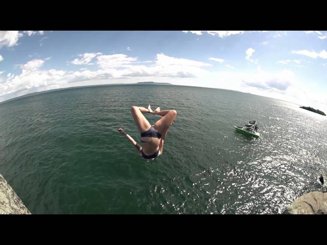 Girl Does Massive Gainer in Slow Mo