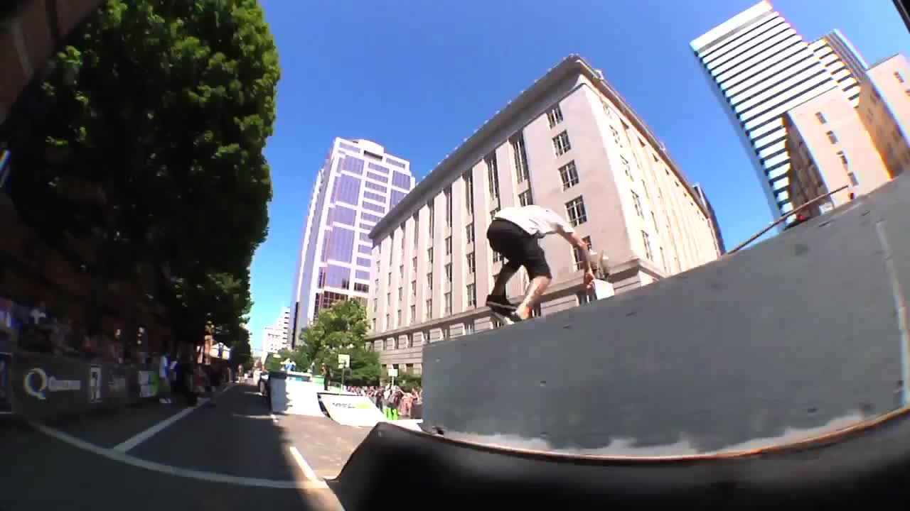 Shecklers Winning Run at Dew Tour 2014 Portland